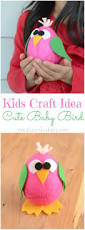 kids craft cute baby bird