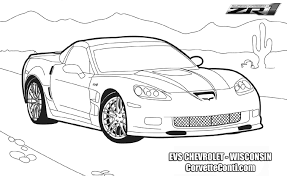 cartoon lamborghini corvette coloring pages ngbasic com