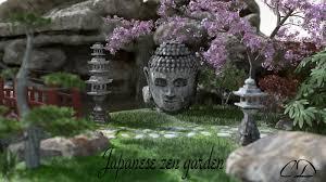 japanese zen garden 3d models curtisdway