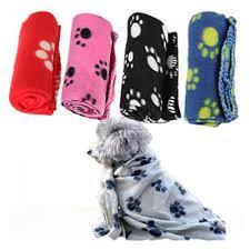 random color 1pc pet dog cat nice soft warm fleece paw print