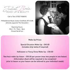 halloween makeup prices juliet bain make up u0026 beauty home facebook