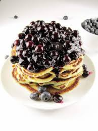 blueberry pancake blueberry pancakes topped with homemade blueberry compote berly s