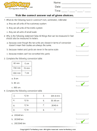 converting between metric and customary units of length worksheet