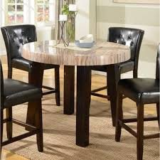 Round Espresso Dining Table Espresso Finish Dining Room U0026 Kitchen Tables Shop The Best Deals