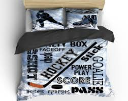 Hockey Bedding Set Hockey Bedding Etsy