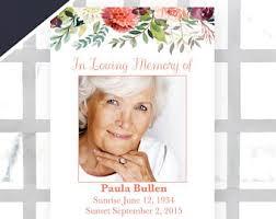 memorial service program memorial service etsy