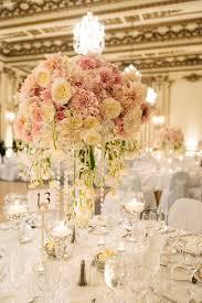 Wedding Floral Centerpieces by Elegant Blush Gold Wedding At The Fairmont California Wedding