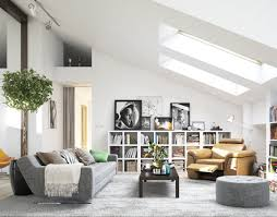living room attic makeover to minimalist modern living area