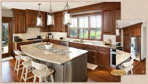 Cherry Glaze Cabinets Cabinets Welcome Home To Showplace Cherry Pecan In A Large