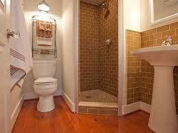 bathroom pretty classic guest bathroom idea with brick shower