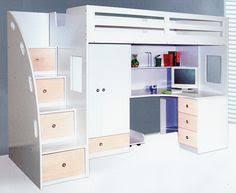 Loft Bed With Closet Underneath Timber Kids Loft Bunk Beds With Desk Closet Gautier Gami