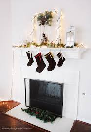Christmas Decoration For A Fireplace by Reveal Fireplace Mantel Christmas Decor