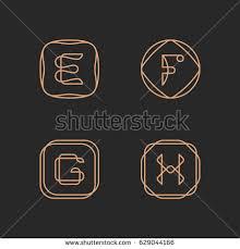 vector letter f logo design template stock vector 629044109