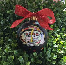 personalized ornaments wedding personalized wedding ornament wedding gift sugar skulls true