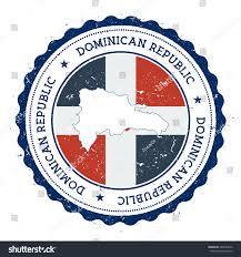 dominican republic map flag vintage rubber stock vector 364643432