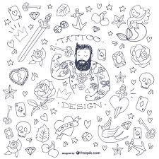 doodle vectors free doodle symbols vector free