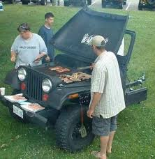 Jeep Bbq Jeep Turned Bbq Grill I Want One With A Traeger The