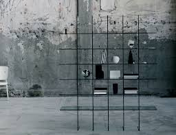 Italian Home Decor Catalogs by Glas Italia Glass Shelves Contemporary Italian Bookcase In