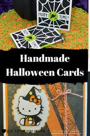 Halloween Candy Bags Craft by Handmade Halloween Cards P S I Love You Crafts