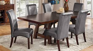 Rooms To Go Dining Table Sets by Mango Burnished Walnut 5 Pc Rectangle Dining Room Dining Room