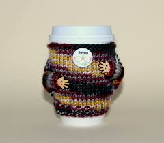 nerdy coffee cozy travel mug cozy knitted cup sweater