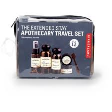 Apothecary travel set extended stay by kikkerland outer layer