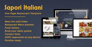 sapori italiani one page restaurant template html themes