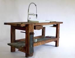 a kitchen island made from a carpenter u0027s work bench designer
