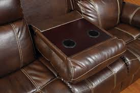 Reclining Sofa With Center Console Loveseat Brown Microfiber Sectional Lazy Boy Leather Reclining