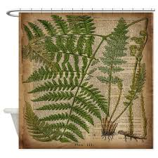Botanical Shower Curtains Botanical Fern Leaves Shower Curtain By Listing Store 62325139