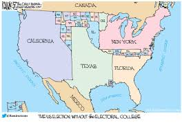 Us Election Results Map by Without The Electoral College Michael P Ramirez