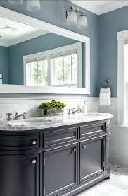 bathroom paint colors gray tile variants with oak cabinets dark