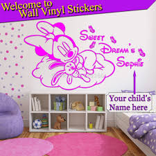 wall stickers home made color the walls of your house wall stickers home made com buy personalised minnie mouse kids wall sticker diy vinyl