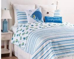 Bay Duvet Covers Island Bay Quilt Set Tropial Fish And Stripes U2013 Beach House Linens