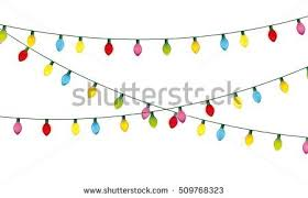 installation christmas lights decoration vector illustration stock