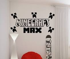 personalised wall art decal sticker minecraft personalised wall art decal sticker