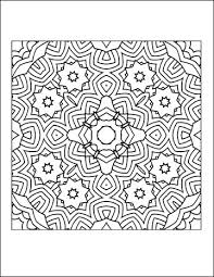 difficult coloring pages free printable coloring pages for adults geometric printable