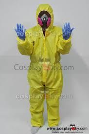 hazmat suit halloween costume breaking bad hazmat lab walter white jumpsuit costume with half