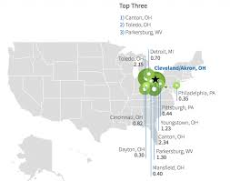 Mansfield Ohio Map by Urban Talent Sheds Say A Lot About Cities Manhattan Institute