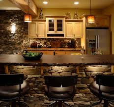 bar images kitchen rustic with stone backsplash stainless steel