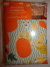 vintage thanksgiving tablecloth 60x84 oval sears harvest