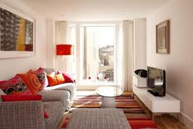 modern small apartment living room design with sofa apartement