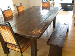 farmhouse table with bench and chairs top 56 superlative dining table with bench seats farmhouse and