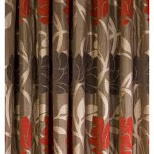 Chocolate Brown And Red Curtains Endearing Red Brown Curtains Decor With Chocolate Brown And Red