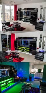Sick Dorm Room Media Center Setup And Workstation New by Led Lighting In A Sleek Media Entertainment Center Via User