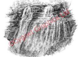 black white landscape canton u0026 canal fulton ohio pencil