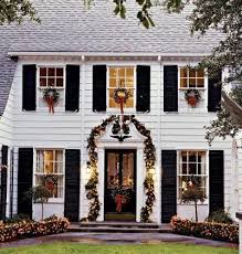 wreaths on windows outdoors and indoors the well