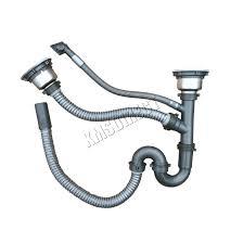 kitchen sink drain kit foxhunter double 1 5 bowl stainless steel kitchen sink complete