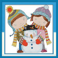 aliexpress buy merry christmas cross stitch kit cartoon