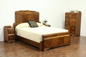 bedroom sets queen size waterfall art deco vintage bedroom set queen size bed chest 2